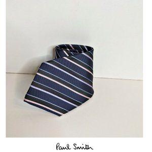 Paul Smith | Navy Stripe Silk Tie
